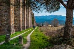 Historischer Aquädukt, Lucca, Toskana, Italien Stockbild
