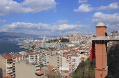 Asansor Turm (Aufzug) in Konak, Izmir lizenzfreies stockbild