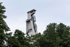 Historischer Bergbauturm Gelsenkirchen Deutschland Stockfoto
