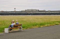 Historischer Berlin Tempelhof Airport Lizenzfreies Stockfoto