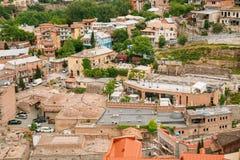Historischer Bezirk Abanotubani - Bad-Bezirk in alter Stadt Tifliss Stockbild