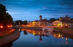 Historischer Bezirk von Ivanovo in der Nacht Lizenzfreie Stockfotos