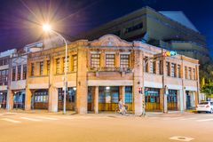 Historischer Block Bopiliao nachts Stockbilder