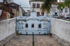 Historischer Brunnen am Sao Luis von maranhao auf Brasilien lizenzfreie stockfotografie