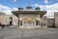 Historischer Brunnen von Sultan Ahmet III Stockfotografie