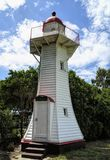Historischer Burnett Heads Lighthouse lizenzfreies stockfoto