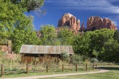 Historischer Crescent Moon Ranch State Park in Sedona Arizona stockbilder