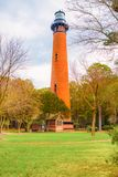 Historischer Currituck-Strand-Leuchtturm lizenzfreies stockbild