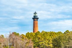 Historischer Currituck-Strand-Leuchtturm lizenzfreie stockfotos
