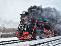 Historischer Dampfmaschinenzug Stockfoto