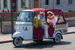 Historischer dreirädriger Piaggio-Affe Lizenzfreies Stockfoto