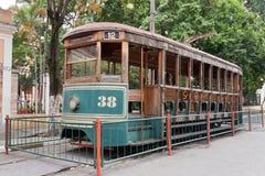 Historischer elektrischer Förderwagen Sao-Paulo Brasilien Stockbild