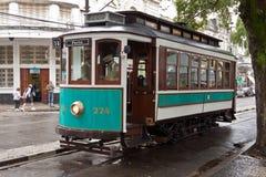 Historischer Förderwagen in Santos Brasilien Lizenzfreie Stockfotos