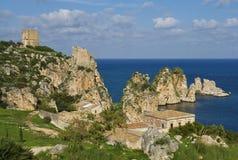 Historischer Feiertagsstandort in Sizilien Stockfotos