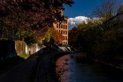 Historischer Franklin Square- - Onandaga-Nebenfluss - Syrakus, New York stockbilder
