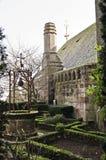 Historischer Garten in der Abtei Stockfoto