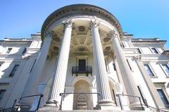 Historischer Grenzstein Vanderbilt Villa Lizenzfreies Stockbild