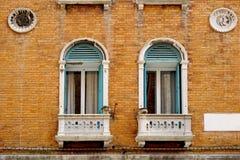Historischer Hausbacksteinbau Stockbild