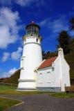 Historischer Heceta-Leuchtturm, Oregon stockbild