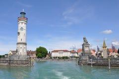 Historischer Kanal von Lindau am See constance Lizenzfreie Stockfotografie