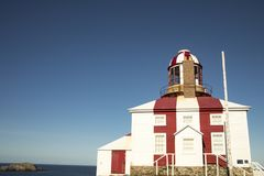 Historischer Kap Bonavista-Leuchtturm, Neufundland, Kanada lizenzfreie stockfotos