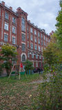Historischer Komplex von Gebäuden baute im Jahre 1856-1913 Jahre auf Stockfoto