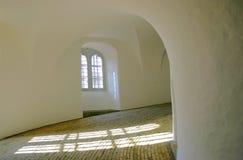Historischer Kontrollturm von innen Stockbild