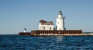 Historischer Leuchtturm gelegen in Ohio Lizenzfreies Stockfoto
