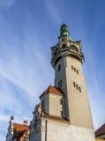 Historischer Leuchtturm in Sopot Stockbild