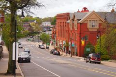 Historischer Lowe Mills Area in Milton, MA Stockbild