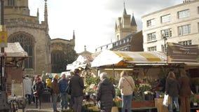 Historischer Markt im Freien Panoramischer Schuss stock video footage