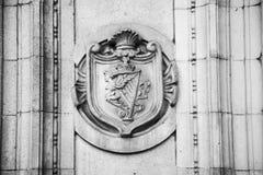 historischer Marmor und Statue Englands in der alten Stadt von London Lizenzfreies Stockbild