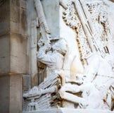historischer Marmor und Statue Englands in der alten Stadt von London Lizenzfreie Stockfotos