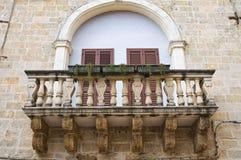 Historischer Palast. Mesagne. Puglia. Italien. Lizenzfreie Stockfotografie