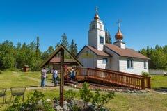 Historischer Park Eklutna lizenzfreies stockbild