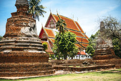 Historischer Park, Si Ayutthaya, Thailand Phra Nakhon Stockfotografie