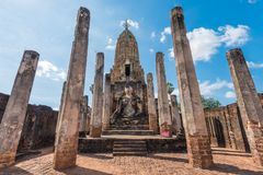 Historischer Park Si Satchanalai in Thailand stockbild