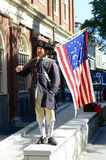 Historischer Patriot Reenactor, Boston, USA Lizenzfreies Stockfoto