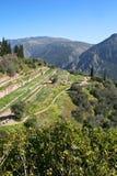 Historischer Platz in Griechenland Delphi Lizenzfreies Stockfoto