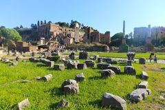 Historischer Platz in Rom lizenzfreies stockbild