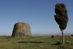 Historischer Platz in Sardinien lizenzfreies stockbild