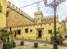 Historischer Platz - Silk Austausch von Valencia spanien lizenzfreies stockbild