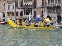 Historischer Regatta von Venedig Lizenzfreies Stockbild