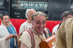Historischer Roman Group an Ausstellung 2015 in Mailand, Italien Lizenzfreie Stockfotos
