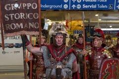 Historischer Roman Group an Ausstellung 2015 in Mailand, Italien Stockfotos