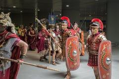 Historischer Roman Group an Ausstellung 2015 in Mailand, Italien Stockbilder