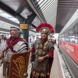 Historischer Roman Group an Ausstellung 2015 in Mailand, Italien Lizenzfreies Stockfoto