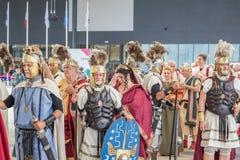 Historischer Roman Group an Ausstellung 2015 in Mailand, Italien Lizenzfreie Stockfotografie