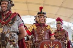 Historischer Roman Group an Ausstellung 2015 in Mailand, Italien Lizenzfreies Stockbild