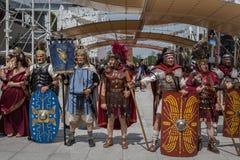 Historischer Roman Group an Ausstellung 2015 in Mailand, Italien Stockfotografie